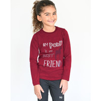 Horseware Girls Long Sleeve Top, 'Best Friend', 3/4 Years - 11/12 Years