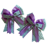 Kathryn Lily Teal Bits Show Bows