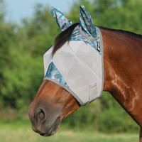 Cashel Crusader Fly Mask, Std with Ears, Teal Tribal, 4 Sizes