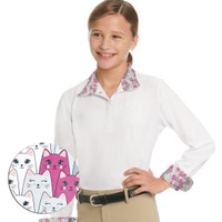 Ovation Ellie II DX Show Shirt, OMG Kitties, Sizes 6 - 16