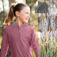 EIS (Equi In Style) COOL Shirt, Youth, African Violet/Zebra