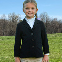 Belle & Bow Featherweight Show Coat, Black, Sizes 2 - 10 Years