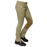Tailored Sportsman Girls Trophy Hunter Jods, Tan, Front Zip, Sizes 2 - 16