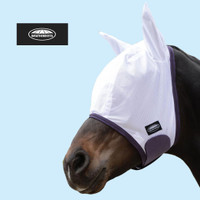 Weatherbeeta Comfitec Essential Fly Mast With Ears, White/Purple/Black, Pony & Cob