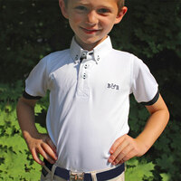 Belle & Bow Boys Short Sleeve Polo/Show Shirt, Sizes 2 - 12