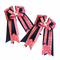 Belle & Bow Show Bows, Max Pink, Navy & Pink