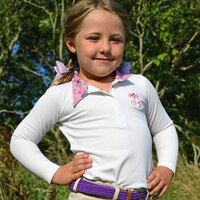 Belle & Bow Long Sleeve Show Shirt, Ponies & Bows, Sizes 2 - 6 Years
