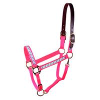 "Perri's 3/4"" Hot Pink Unicorn Breakaway Halter, Mini & Pony"
