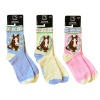 Epona Pony Portrait Socks, Three Colors, Junior