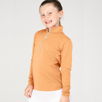 EIS (Equi In Style) COOL Shirt, Youth, Apricot with Ivory Zipper
