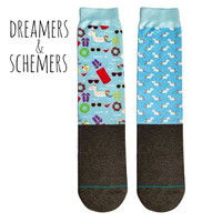 Dreamers & Schemers YOUTH 2-Pack Boot Socks, Summer Vacay