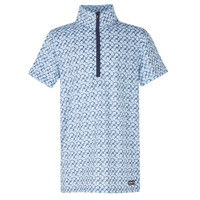 Kerrits Kids Ice Fil Short Sleeve Shirt, Skylight Hoof Links