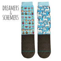 Dreamers & Schemers YOUTH 2-Pack Boot Socks, Fast Food & Who Dis