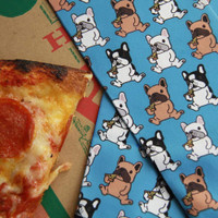 Dreamers & Schemers Boot Socks, Pair & a SPARE, Pizza Pup