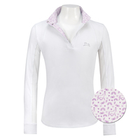 RJ Classics Maddie Jr 37.5 Shirt, White with Unicorns, XXS - L
