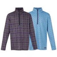 Kerrits Kids Ice Fil Long Sleeve Shirt, Blackberry Plaid & Icelandic Ice Diamond