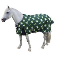 "TuffRider Medium Turnout, Pegasus Unicorns on Hunter Green, 48"" - 63"""