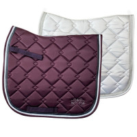 Equine Couture Satin Pony Dressage Pad with Silver Sparkle Trim