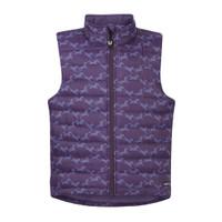 Kerrits Kids Horse Crazy Quilted Vest, Blackberry Diamond Horse