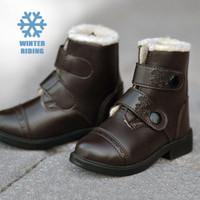 Belle & Bow Fleece-Lined, Winter Paddock Boots, Brown, Little Kids Sizes 6 - 12