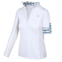 Kathryn Lily ProAir3 Long Sleeve White Shirt, Preppy Bits, Childs XXS - L