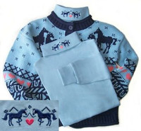 Horses and Hearts  Embroidered Turtleneck, Sizes S & XXL Only