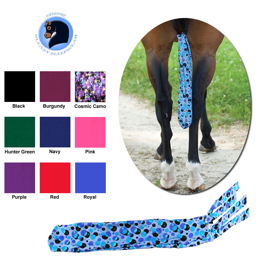 Blue Camo Horse Tail Bag