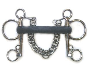 Coronet Hard Rubber Mullen Mouth Pelham Long Cheek Bit 5-1//2