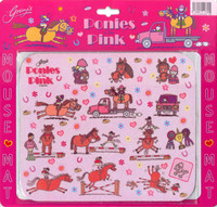 Ponies in the Pink Mouse Pad