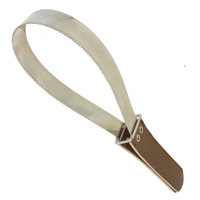 Stainless Steel Shedding Blade with Leather Grip
