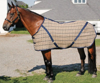 Buckeye Stable Blanket, Navy Plaid, 60'' - 72''