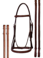 Bobby's Platinum Series Raised, Fancy Bridle, Padded or Unpadded, Oakbark Only