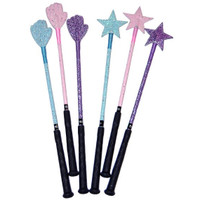 Magic Wand Glitter Bats, Baby Blue Only