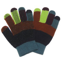 Rainbow Magic Gloves With Grip Dots, Blue/Navy/Brown/Lime