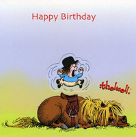 Thelwell Birthday Card 'Wake Up!'