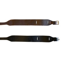 Leather Jodhpur Garter  Straps, Havana Brown & Black