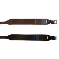 Leather Jodhpur Garter  Straps, Havana Brown & Black