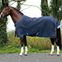 Amigo Bravo 12 Pony Turnout Sheet, Navy/White, 45'' - 69''