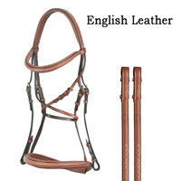 Bobby's Signature Padded, MONO Crown, Fancy Bridle & Reins, Pony Oakbark Only