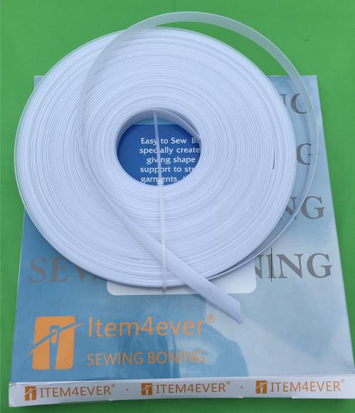 """rigilene polyester Boning 1/2"""" (12mm) White color ,regular, see through falt type"""