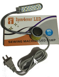 Magnetic Mounting Base Working Gooseneck Lamp 110v + 20 LED Light for Home or Sewing Machine