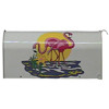 Vinyl Graphic Mailbox Pink Flamingos
