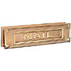 Mail Slot, Deluxe Design, Solid Brass