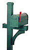 Deluxe Side-Mount Aluminum Mailbox Post, In-Ground Burial