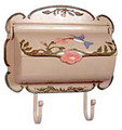 Hummingbird Wall Mount Mailbox Hand-Painted Horizontal