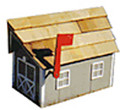Wooden Barn Mailbox