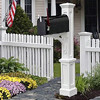Newport Plus Mailbox Post - White