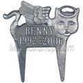 Memorial Pet Marker Angel Cat