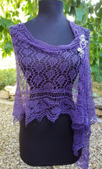 Lace Shawl - Heather - Custom Knit