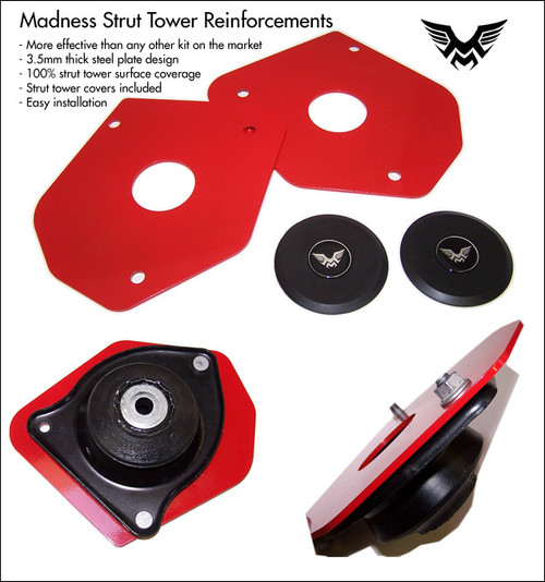 New MINI Cooper S Strut Tower Reinforcement Plates for the 2002-2006 R53